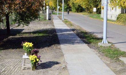 Polgári kezdeményezésre gyalogjárda épült a sétaerdőnél
