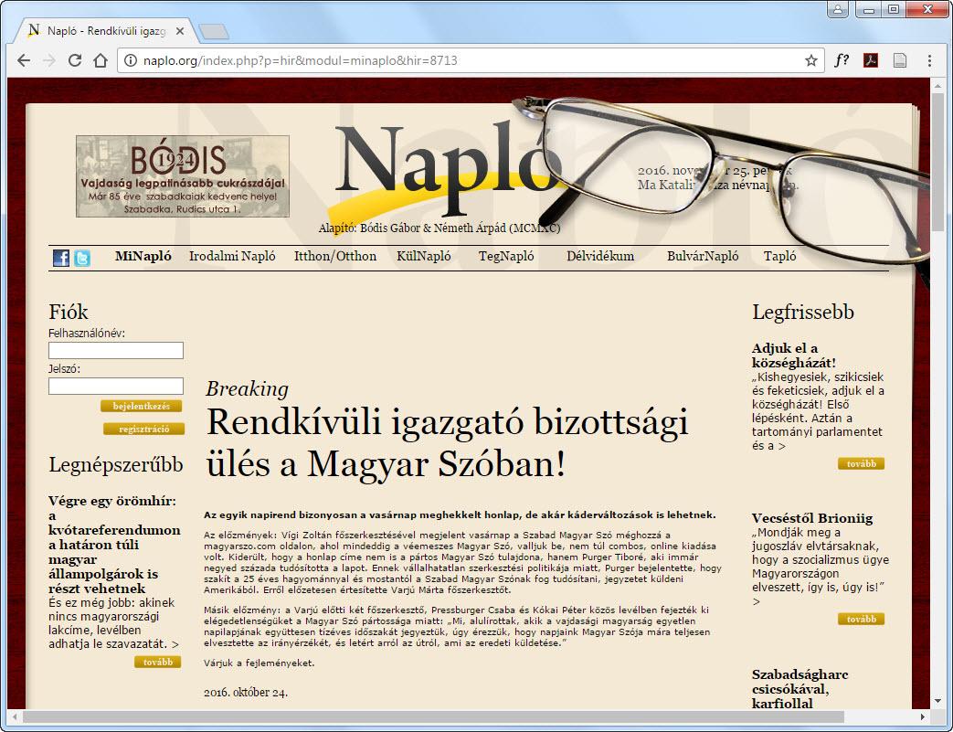 A Naplo.org ezúttal valóban jólértesültnek bizonyult