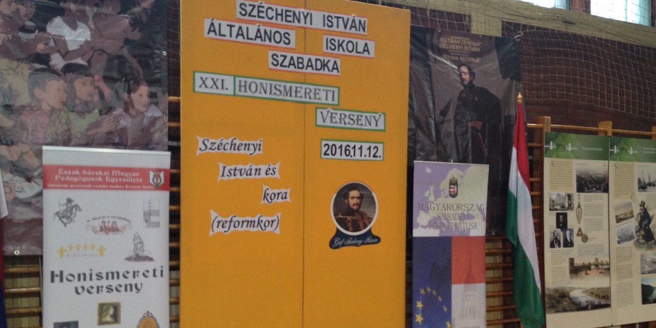 """<span class=""""entry-title-primary"""">Szabadka: Széchenyiről a Széchenyiben</span> <span class=""""entry-subtitle"""">Huszonkét csapat vett részt az Észak-bácskai Magyar Pedagógusok Egyesületének Honismereti versenyén</span>"""