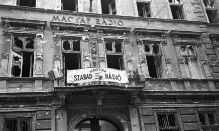 A Szabad Magyar Rádió épülete Budapesten