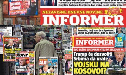 """Lebukott: Trump eddig szerb volt, most már """"siptár"""""""