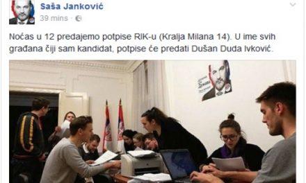 Éjfélkor adják át a Saša Jankovićot támogató aláírásokat