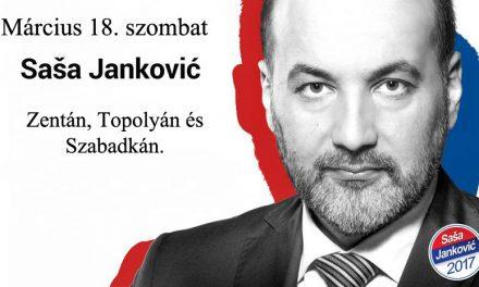 Szombaton Észak-Bácskában kampányol Saša Janković
