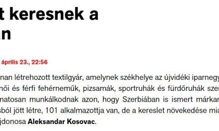 Már a magyar neveket is szerbül írja a Magyar Szó