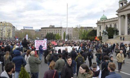Újabb tüntetés Belgrádban