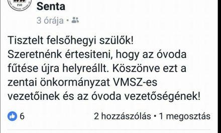 Üdvözlégy, óh, VMSZ, felsőhegyi óvodások megmentője!