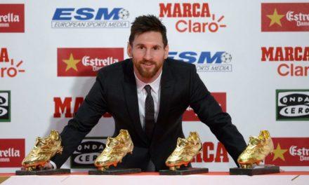 Messi negyedszer vette át az Aranycipőt