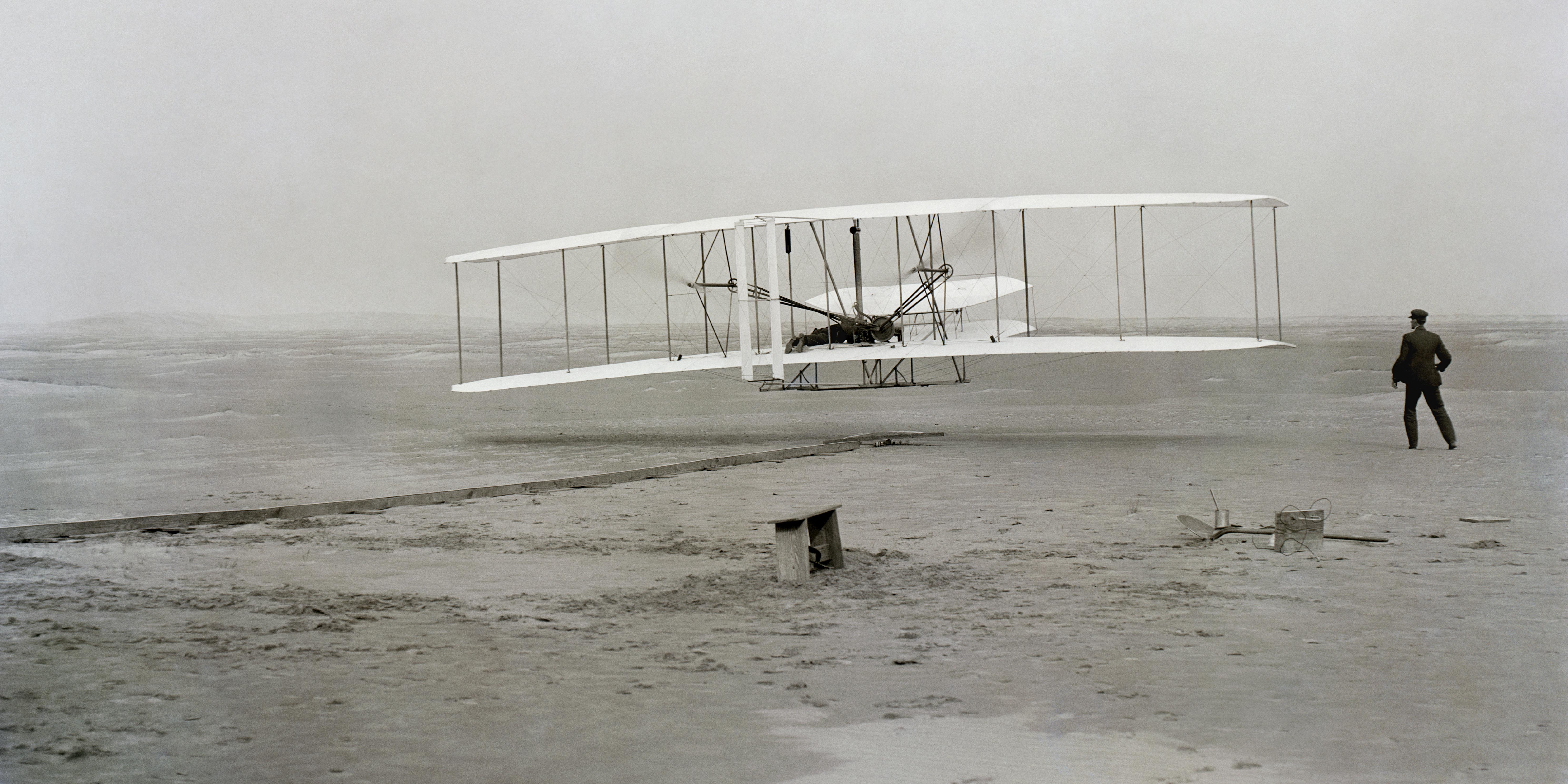 7f5bc0927565 A Wright fivérek első repülése – fényképen Amatőr kattintásból világhírű  fotó sikeredett